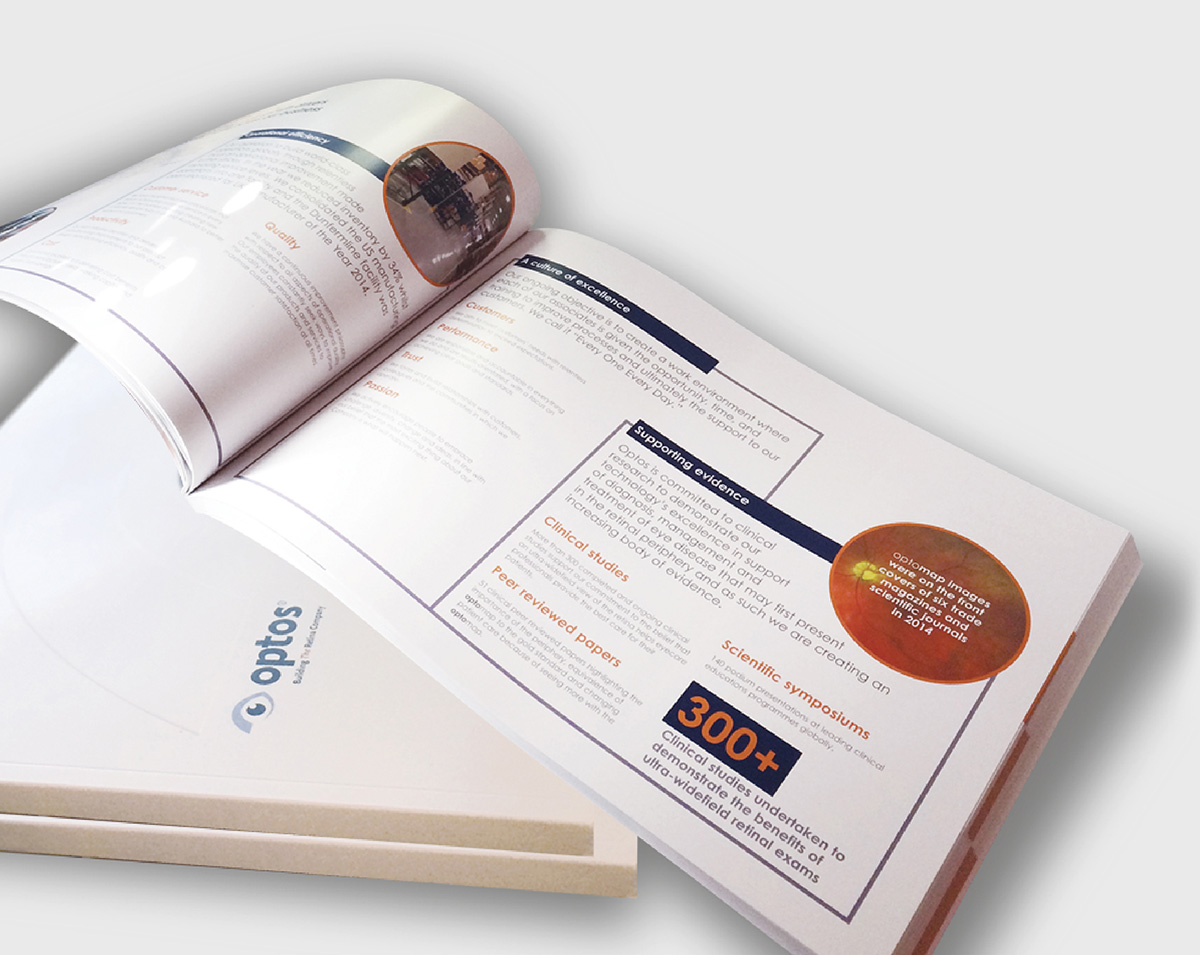 annual report design and artwork optos