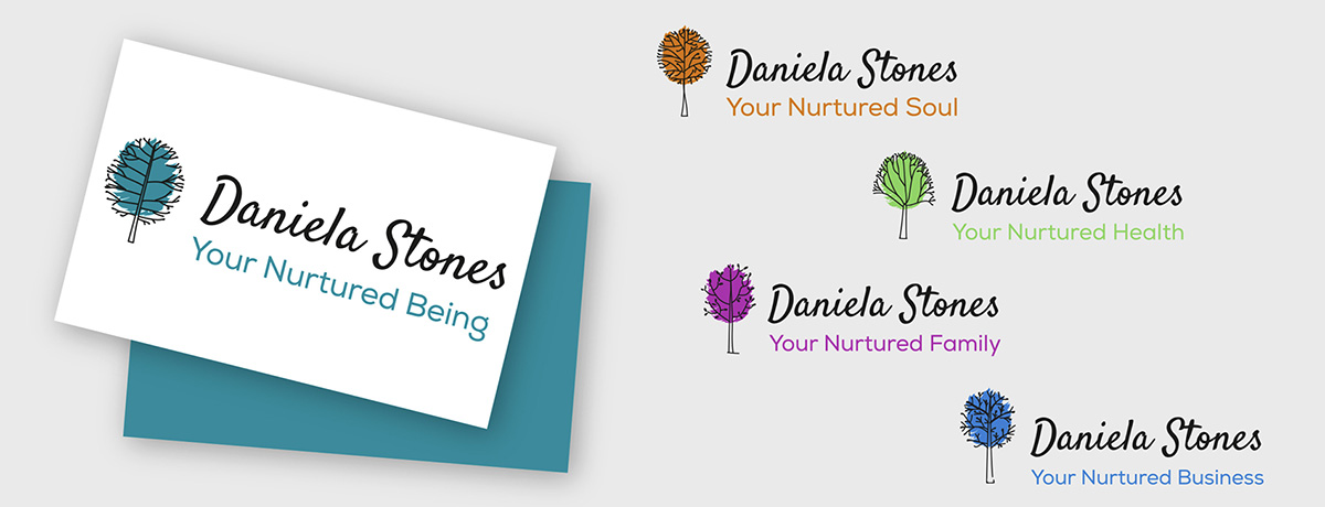 logo and branding business cards