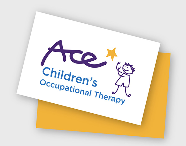 ace children's business card design and print