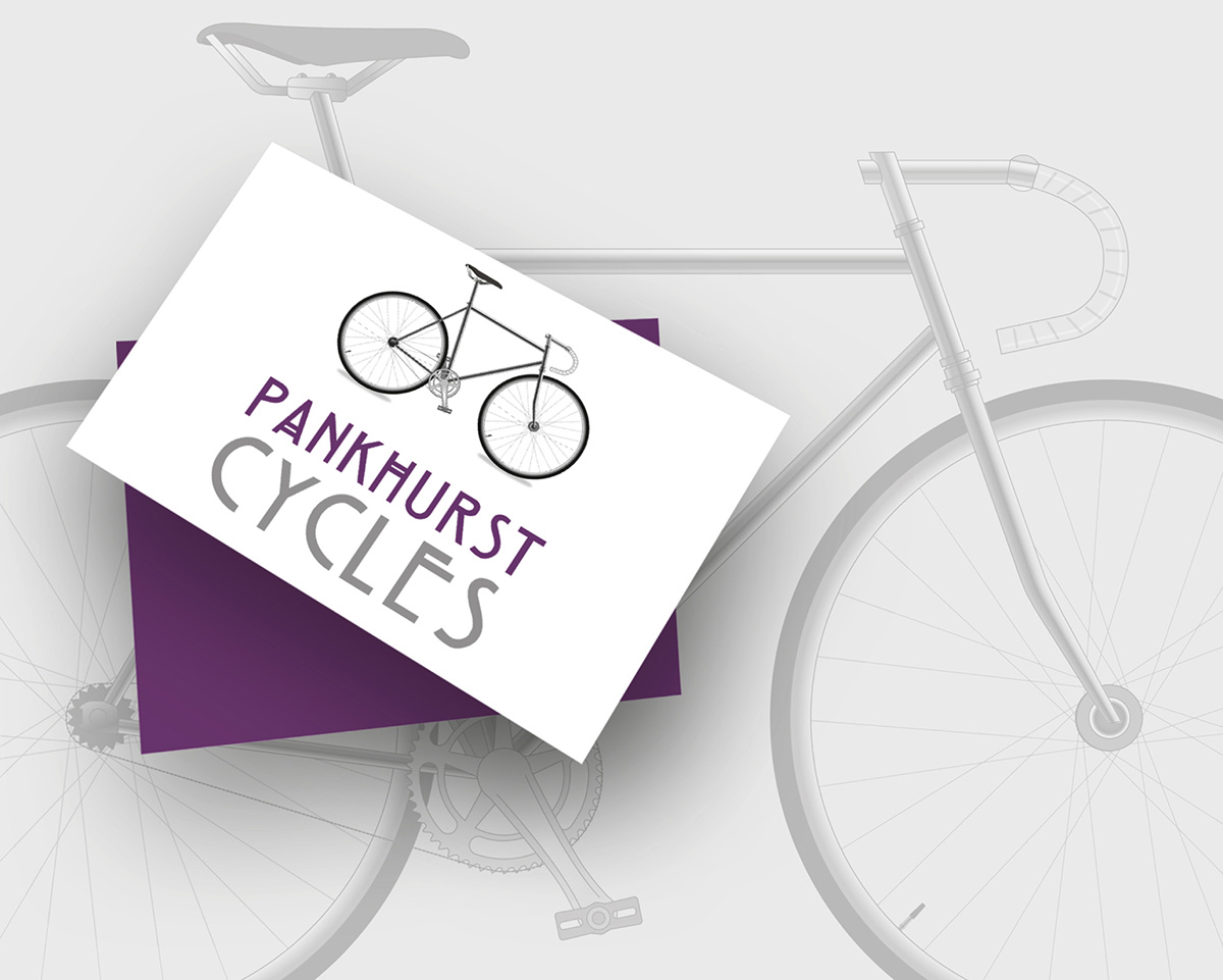 pankhurst cycles logo design