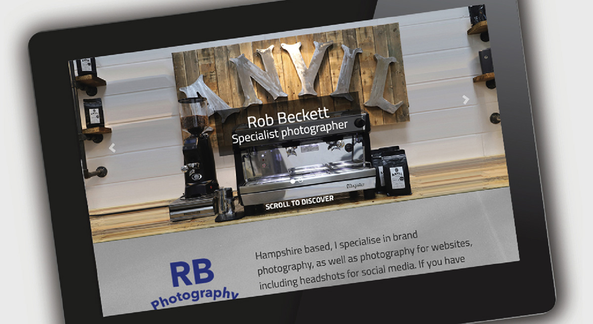website for RB Photography