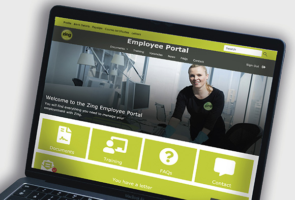 website digital employee portal