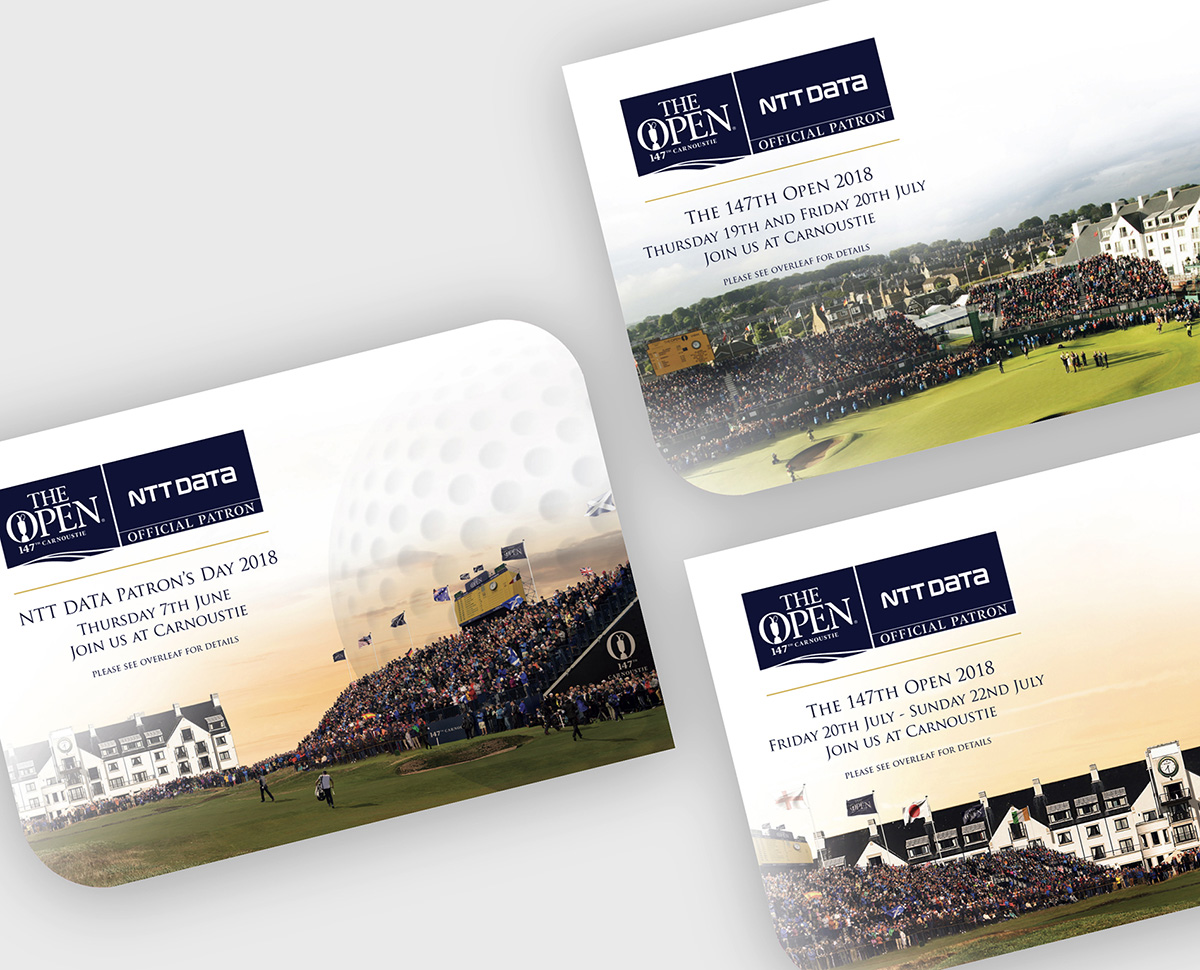 Golf invitations the open ntt data
