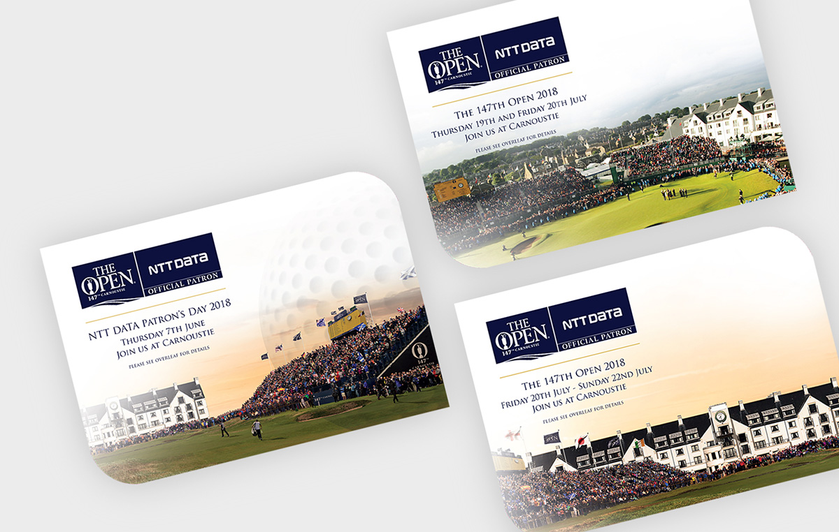 ntt data golf invitations design