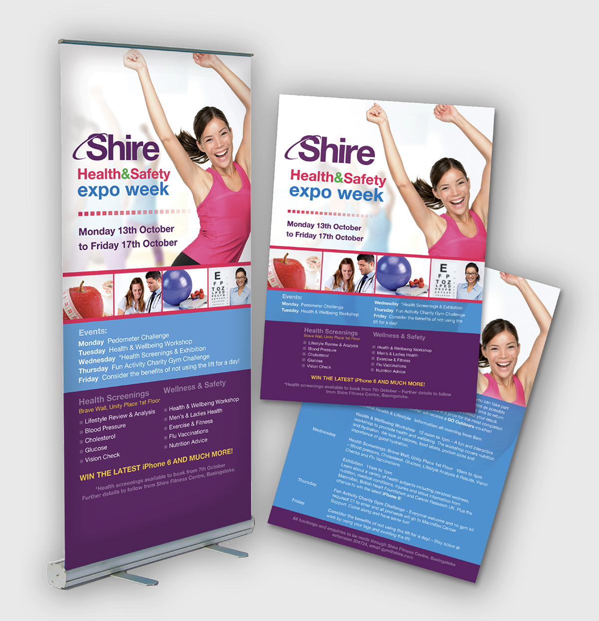 posters and banner stands design and print
