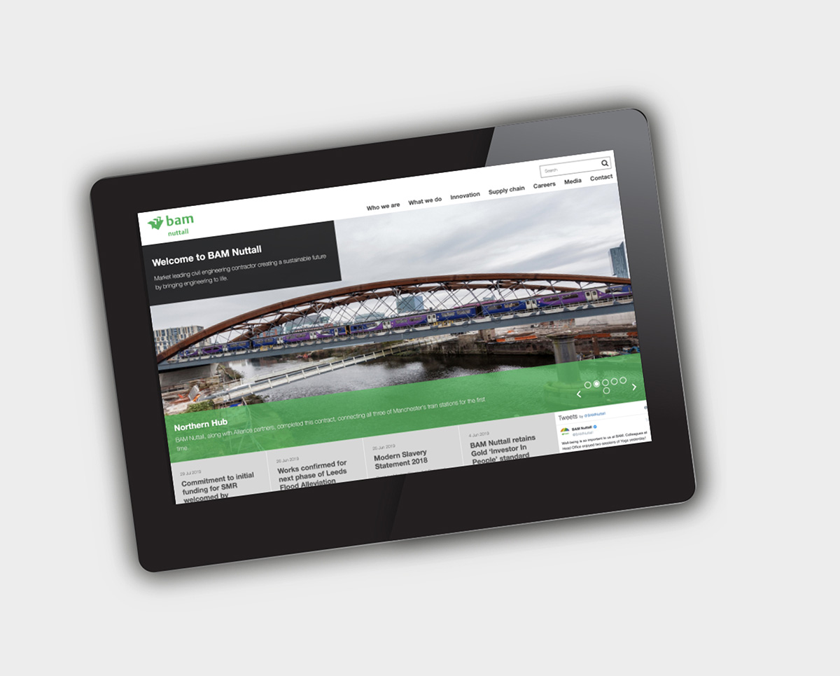 website digital tablet view